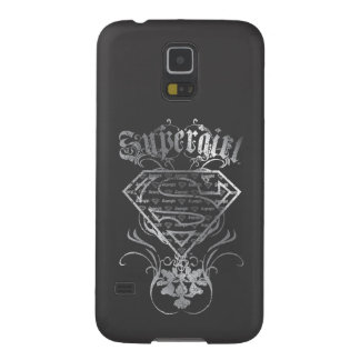 Supergirl Silver Logo Galaxy S5 Case