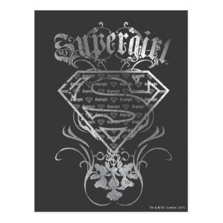 Supergirl Silver Logo Postcard