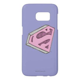 Supergirl Sketched Pink Logo