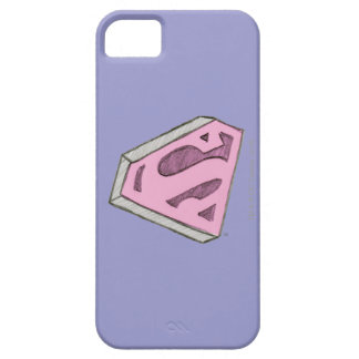 Supergirl Sketched Pink Logo Barely There iPhone 5 Case