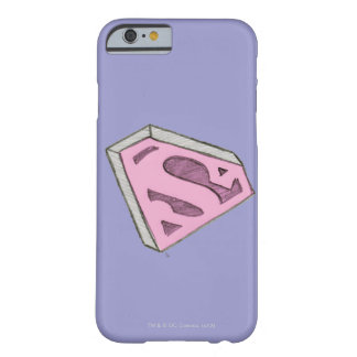 Supergirl Sketched Pink Logo Barely There iPhone 6 Case