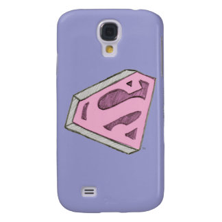 Supergirl Sketched Pink Logo Galaxy S4 Case