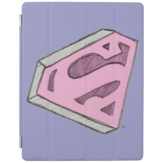 Supergirl Sketched Pink Logo iPad Cover