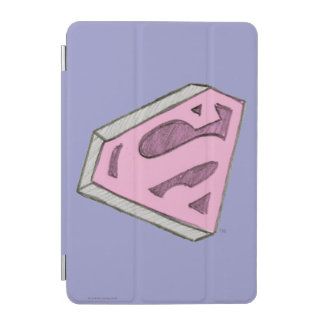 Supergirl Sketched Pink Logo iPad Mini Cover