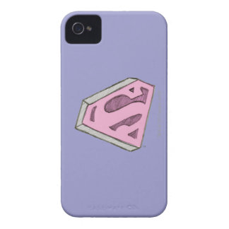 Supergirl Sketched Pink Logo iPhone 4 Cases