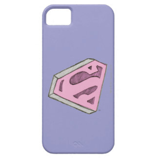 Supergirl Sketched Pink Logo iPhone 5 Covers