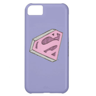 Supergirl Sketched Pink Logo iPhone 5C Case