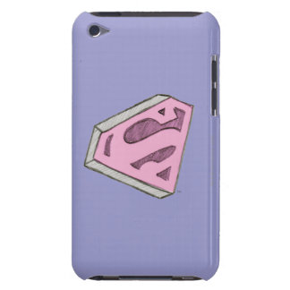 Supergirl Sketched Pink Logo iPod Touch Case-Mate Case