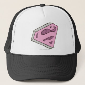 Supergirl Sketched Pink Logo Trucker Hat
