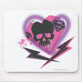 Supergirl Skulls and Lightning Mouse Pad