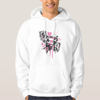 Supergirl Spills and Scribbles Collage Hoodie