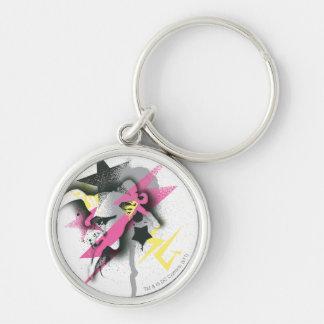Supergirl Spray Paint Key Ring