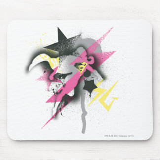 Supergirl Spray Paint Mouse Mat