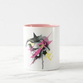 Supergirl Spray Paint Two-Tone Coffee Mug