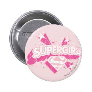 Supergirl Stars and Logo 6 Cm Round Badge