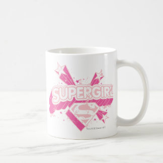 Supergirl Stars and Logo Coffee Mug