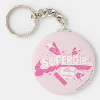 Supergirl Stars and Logo Key Ring