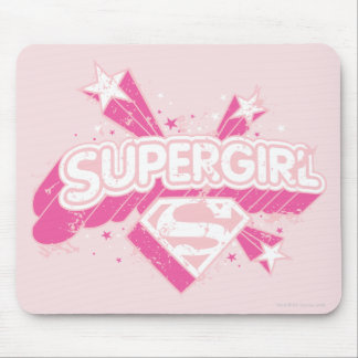 Supergirl Stars and Logo Mouse Mat