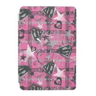 Supergirl Stars and Skulls Pattern iPad Mini Cover