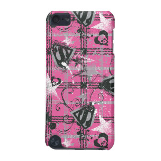 Supergirl Stars and Skulls Pattern iPod Touch 5G Cover