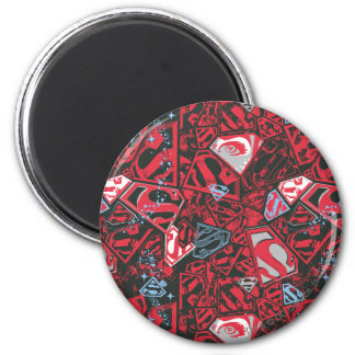 Supergirl Stary Red Pattern Magnet