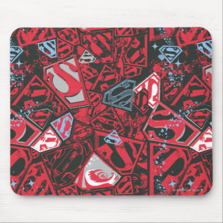 Supergirl Stary Red Pattern Mouse Mat