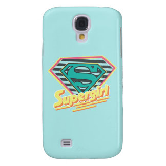 Supergirl Striped Logo Galaxy S4 Case