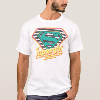 Supergirl Striped Logo T-Shirt