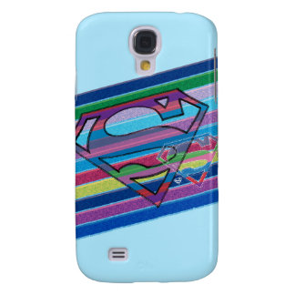 Supergirl Striped Rainbow Logo Galaxy S4 Case