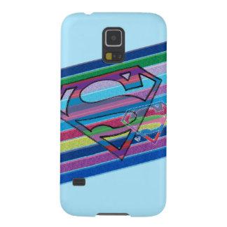 Supergirl Striped Rainbow Logo Galaxy S5 Case