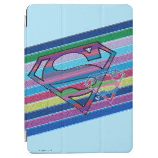 Supergirl Striped Rainbow Logo iPad Air Cover