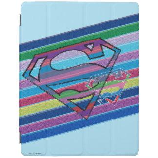 Supergirl Striped Rainbow Logo iPad Cover