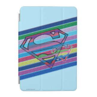 Supergirl Striped Rainbow Logo iPad Mini Cover