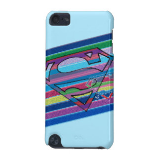 Supergirl Striped Rainbow Logo iPod Touch 5G Cases