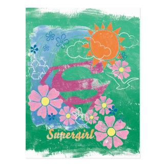 Supergirl Sun and Love Postcard