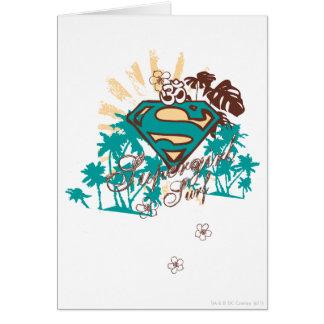 Supergirl Surf Card