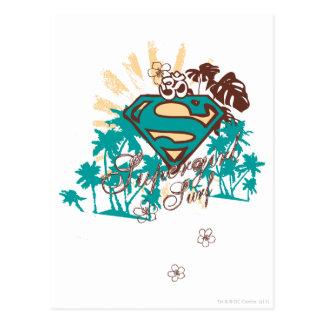 Supergirl Surf Postcard