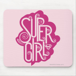 Supergirl Swirl 1 Mouse Mat