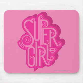 Supergirl Swirl 2 Mouse Mat