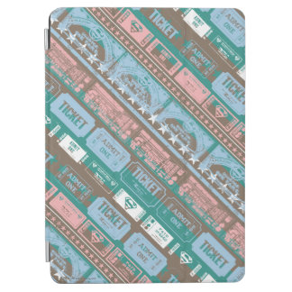 Supergirl Ticket Pattern Blue iPad Air Cover