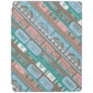 Supergirl Ticket Pattern Blue iPad Cover