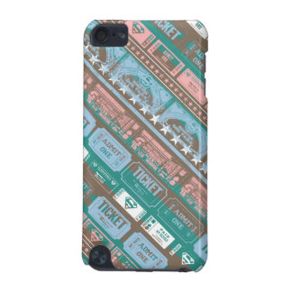 Supergirl Ticket Pattern Blue iPod Touch 5G Cover