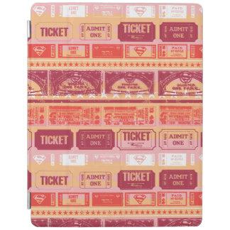 Supergirl Ticket Pattern Orange iPad Cover