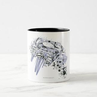 Supergirl Totally Awesome Two-Tone Coffee Mug