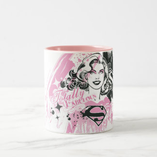 Supergirl Totally Fabulous Two-Tone Coffee Mug