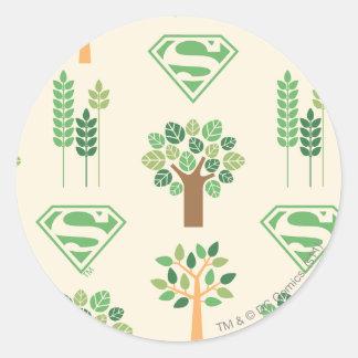 Supergirl Trees Classic Round Sticker