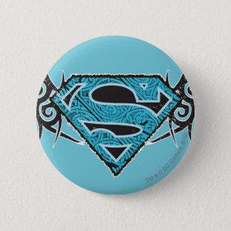 Supergirl Tribal Pattern Logo 6 Cm Round Badge