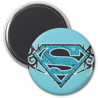 Supergirl Tribal Pattern Logo 6 Cm Round Magnet