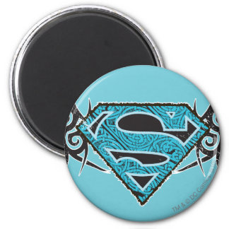 Supergirl Tribal Pattern Logo Magnet