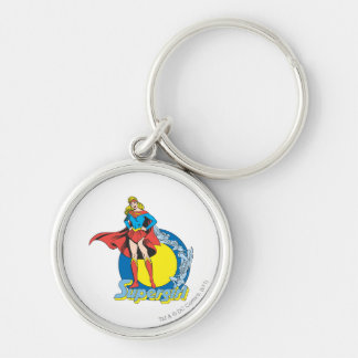 Supergirl with Logo Key Ring